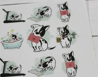 Charlie Planner Stickers - Character Stickers - Happy Mail Stickers -  Bubble Bath Sticker - Reading Sticker - Fitness - Sampler Sticker Set