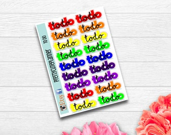 Rainbow To Do Stickers - Planner Stickers - Meeting stickers - appointment Stickers  - to do stickers  - Rainbow to do - functional stickers