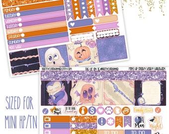 Mini Happy Planner Stickers - Personal Planner Stickers - Travelers Notebook Stickers - BuJo Stickers - Spooky Kooky Halloween stickers