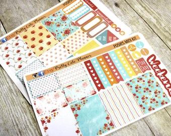Planner Stickers - Weekly Planner Sticker Set - Erin Condren Life Planner  - Day Designer- Functional stickers Pretty Posies