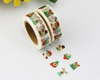 Washi Tape - Christmas Washi Tape - Santa washi Tape - Paper Tape - Planner Washi Tape - Washi - Decorative Tape - Deco Paper Tape - Snowman