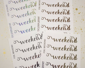 Foil Weekend Banner Planner Stickers - Reminder Stickers - Planner Stickers - Happy Planner  - Functional Stickers - Foiled Stickers