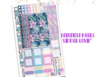 Hobonichi Weeks Stickers - Summer Lovin' - Hobo Weeks Stickers - Weeks stickers - Hobonichi stickers - Hobonichi weeks Mega Stickers