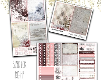 The First Snow BIG Happy Planner - Planner Stickers - Weekly Planner Sticker Set - Functional stickers - Winter Planner stickers - Christmas