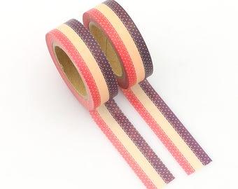 Striped Washi Tape - Polka dot washi Tape - Washi Tape - Paper Tape - Planner Washi Tape - Washi - Pretty washi tape - deco tape