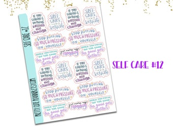 Self Care Doodle stickers 12 - Self Care Stickers - Self Care - SELF CARE isn't selfish - just another magic monday - if you change nothing