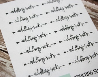 Planner Stickers - Adulting Sucks - Reminder Stickers - Functional Stickers - Snarky Adult stickers - Fits Erin Condren - Happy Planner