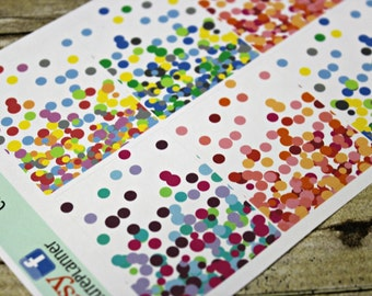 Full Box Planner Stickers - Planner Sticker Set - Erin Condren Life Planner - Functional stickers - Confetti Full Box - Full Box