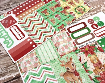 BIG Happy Planner Planner Stickers - Weekly Planner Sticker Set - Happy Planner - Day Designer - Functional stickers - Christmas Critters