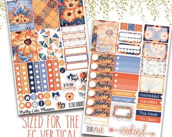 Fall Bouquet Planner Stickers - Planner stickers - Fits Erin Condren Life Planner - Fall floral Kit Stickers - fall sticker set - fall