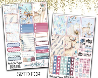 Black Friday Exlusive - Happy Planner Forest in the Winter - Planner stickers - Winter Stickers -  Functional stickers - Christmas Planner