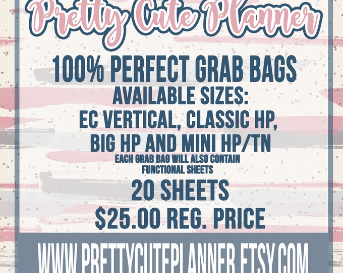 Featured listing image: Sticker Grab Bags , Perfect cut sheets , You choose your planner size, grab bags