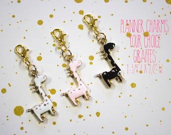 Planner Charm - Giraffe Charm - Giraffe Planner Charm - Planner Accessories - TN Charm - Travelers Notebook Charm - Midori Charm - Animal