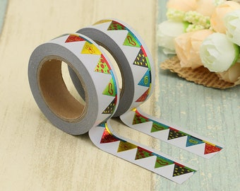 Foil Banner Washi Tape - Foiled  Washi Tape -  washi Tape - Paper Tape - Planner Washi Tape - Washi - Decorative Tape - foiled geometric