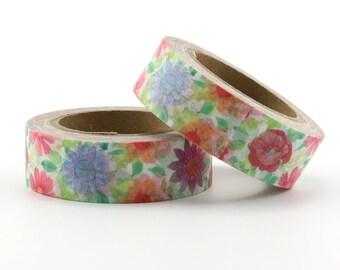 Floral Washi Tape - Flower washi Tape -  Nature Washi Tape - Paper Tape - Planner Washi Tape - Washi - Decorative tape - Spring Washi