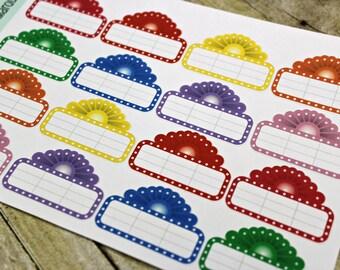 Movie Reminder stickers - Planner Stickers - Movie Night Stickers - Erin Condren Life Planner - Happy Planner - Reminder stickers - Marquee