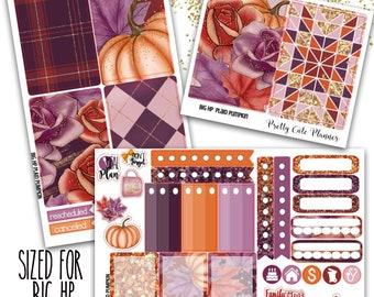 Plaid Pumpkin BIG Happy Planner - Planner Stickers - Weekly Planner Sticker Set - Functional stickers - Fall Planner stickers - pumpkin