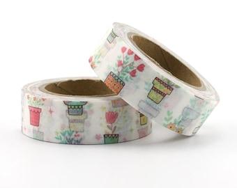 Spring Flowers Washi Tape - Floral washi Tape -  Nature Washi Tape - Paper Tape - Planner Washi Tape - Washi - Decorative tape - Plant washi