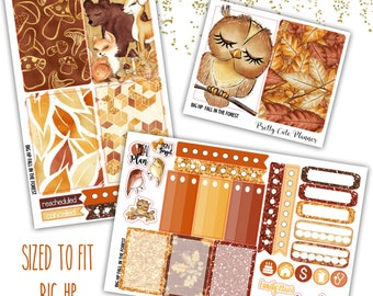 Fall in the Forest BIG Happy Planner Planner Stickers - Weekly Planner Sticker Set - Functional stickers - Fall Woodland Stickers