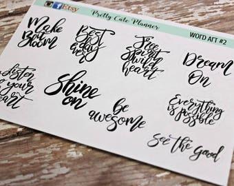 Planner stickers - Word Planner Stickers - Happiness Planner stickers - Motivational Planner stickers - Word stickers - Typography stickers