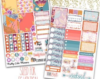 Romantic Autumn Planner Stickers - Planner stickers - Fits Erin Condren Life Planner - Fall romantic autumn sticker Kit - fall sticker set