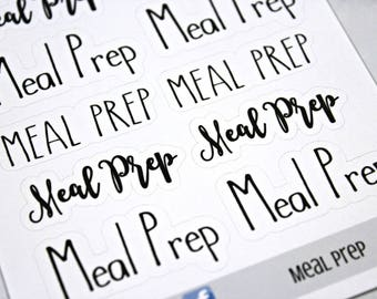 Meal Prep Stickers - Dinner Planner Stickers - Character Stickers - Weekly Meal Prep - Self Care - Housekeeping Stickers - Dinner prep