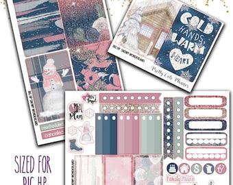 Snowy Wonderland BIG Happy Planner Stickers - Weekly Planner Sticker Set - Happy Planner - Functional stickers - Winter Stickers