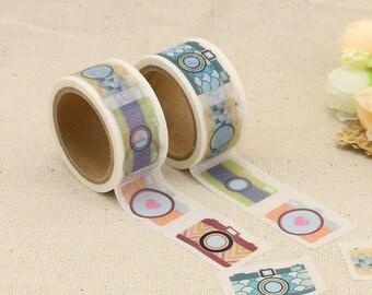 Washi Tape - Camera Washi Tape - Social Media Washi Tape - Paper Tape - Planner Washi Tape - Washi - Decorative Tape - Deco Paper Tape