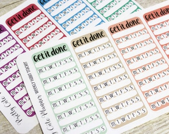Planner Stickers / Weekly Habit Tracker / SideBar Tracker / Planner Stickers / ECLP Stickers / Happy Planner / Side Bar Sticker