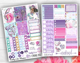 Mermaid Planner Stickers - Planner stickers - Fits Erin Condren Life Planner - Mermaid Please Stickers - Mermaid Stickers - Mermaid Planner
