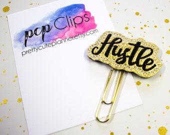 Hustle Planner Clip - Gold Hustle Planner Clip - Gold Planner Clip - Planner - Felt Planner Clip - Feltie clip - Vinyl Clip - Hustle