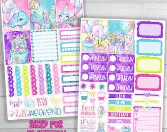 EC Birthday planner stickers - Happy Birthday planner sticker - Fits Erin Condren Life Planner - Birthday Planner Stickers - Birthday