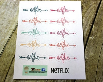 Netflix Planner Stickers - Movie Night Stickers - Erin Condren Life Planner - Happy Planner - Reminder stickers - Calendar Stickers - Binge