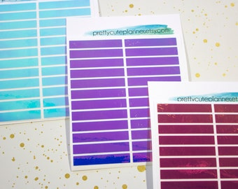 Holographic Planner Stickers - Big Happy Planner Holo Headers - Happy Planner Holo Headers - Fits Erin Condren Holo Headers - Holo Stickers