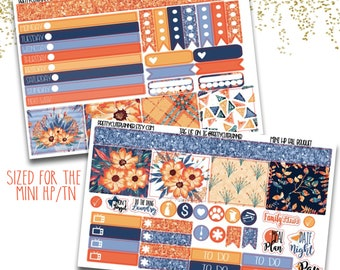 Fall Bouquet Mini Happy Planner Stickers - Personal Planner Stickers - Travelers Notebook Stickers - BuJo Stickers - Bullet Journaling