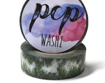 Pine Bough Washi Tape - Washi Tape - ChristmasWashi Tape - Paper Tape - Planner Washi Tape - Washi - Decorative Tape - Deco Paper Tape