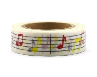 Washi Tape - Music Note Washi Tape - Music Washi Tape - Paper Tape - Planner Washi Tape - Washi - Decorative Tape - Deco Paper Tape