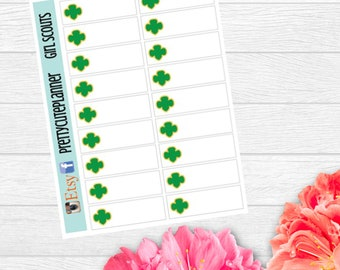 Girl Scouts Stickers - Trefoil Stickers - Planner Stickers - Scouting stickers - Reminder Stickers - Quarter Box Stickers - Scouts Stickers