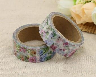 Washi Tape - Floral Washi Tape - Floral Boxes Washi Tape - Paper Tape - Planner Washi Tape - Washi - Decorative Tape - Deco Paper Tape
