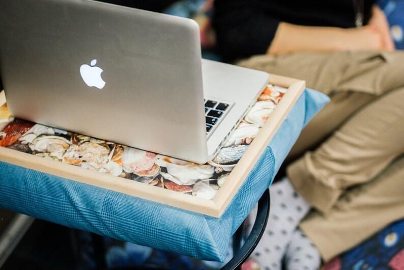 Laptop Table Tray Pillow Pion White Lap Stand Lap desk Wood Lap, Laptop Stand Computer desk