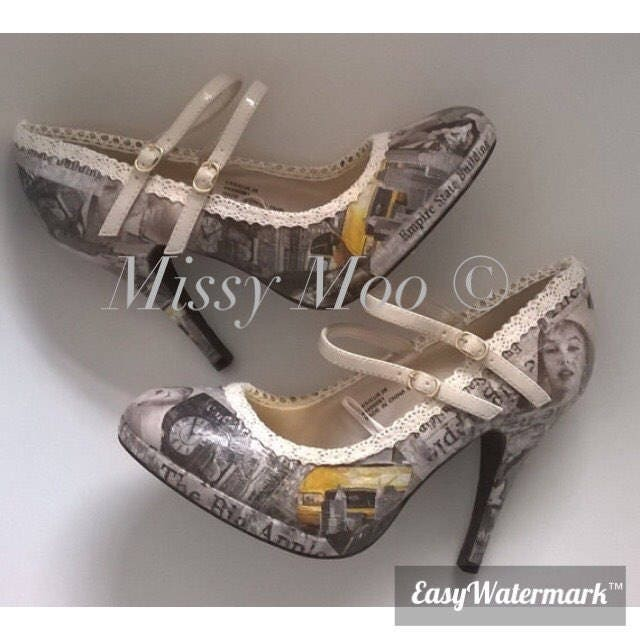Marilyn Monroe shoes, Hollywood glamour, New York Hollywood mary icon funky, unique elegant mary Hollywood jane, wedding, bride customised, pretty, stylish 8468f5