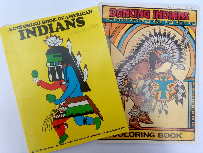 2 Vintage Native American Coloring Books / 1988 / 1976 / Never | Etsy
