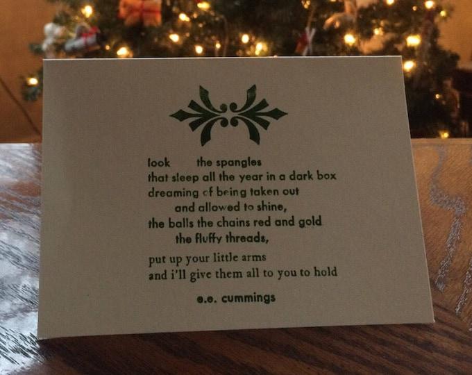 E.E. Cummings Christmas card
