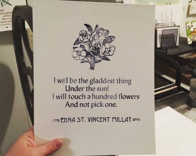 A hundred flowers - Edna St. Vincent Millay