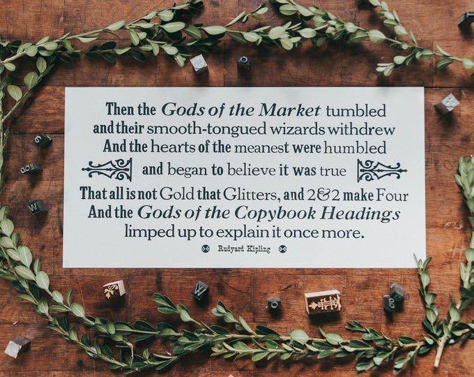 Rudyard Kipling - The Gods of the Copybook Headings