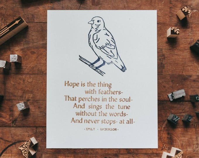 Hope is the thing with feathers - Dickinson