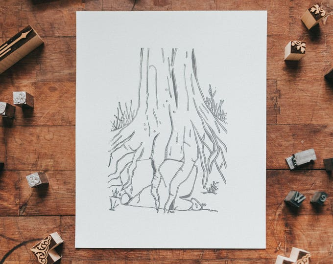 The Triumph of the Trees letterpress print