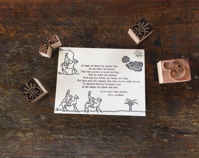 Auden Advent card