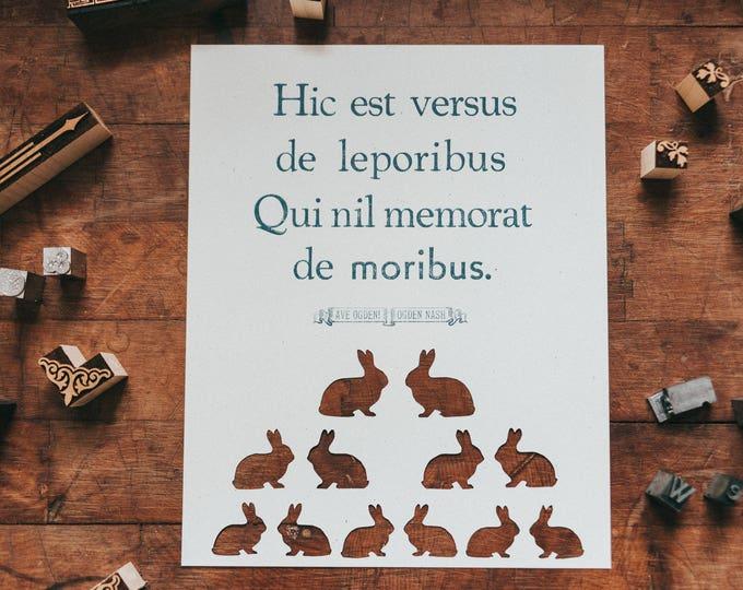 Ogden Nash + Rabbits