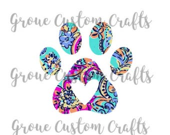 Paw Print Lilly Pulitzer Decal